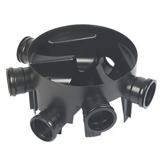 FloPlast 5-Inlet Inspection Chamber Base Black 290mm