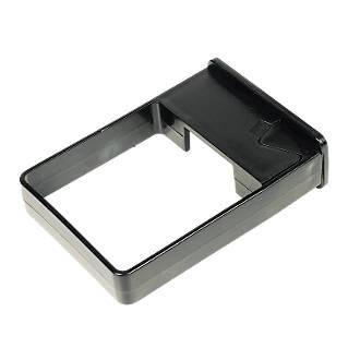 FloPlast Square Line Easyfit Clip 65mm Black 10 Pack