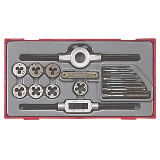 Teng Tools 3-12mm Metric Tap & Die set  17 Pcs