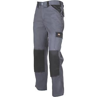"Dickies Everyday Work Trousers Black / Grey 32"" W 31"" L"
