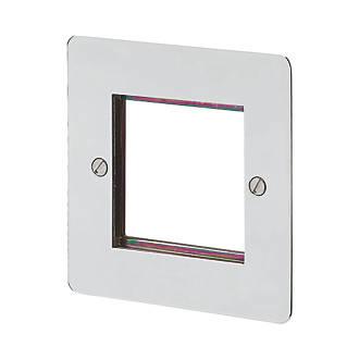 MK Edge 1-Module Modular Light Switch Surround Polished Chrome