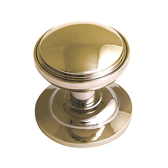 Fab & Fix Decorative Round Door Knob Polished Gold 75mm