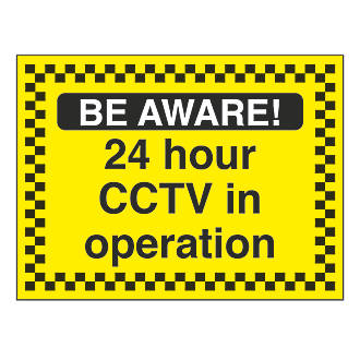 """""""24-Hour CCTV In Operation"""" Sign 450 x 600mm"""