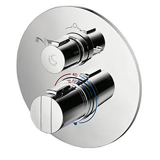 Ideal Standard Concept Easybox Slim Concealed Thermostatic Mixer Shower Valve & Diverter Fixed Chrome