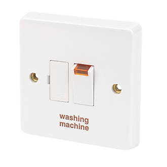 Crabtree Capital 13A Switched Washing Machine Fused Spur with Neon White