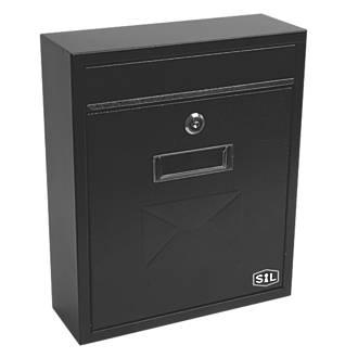 Smith & Locke Compact Post Box Black Powder-Coated