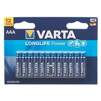 Varta Longlife Power AAA Batteries 12 Pack