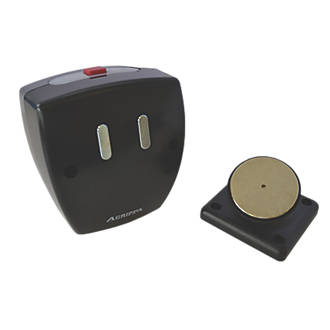 Agrippa Wireless Sound-Activated Magnetic Fire Door Holder Black