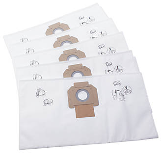 Nilfisk Attix 50-01 / Maxxi II 35 30, 42Ltr Vacuum Fleece Filter Bags 5 Pack