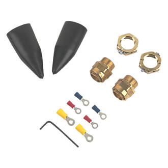 Tauras  Internal Brass 20 Gland Kit with Earthing Nut  2 Pack