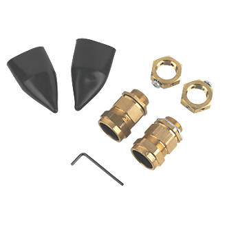 Tauras  External Brass 25 Gland Kit with Earthing Nut  2 Pack