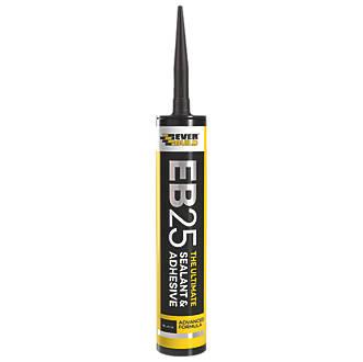 Everbuild EB25 Hybrid Sealant & Adhesive Black 300ml