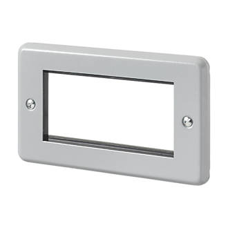 MK  4-Module Modular Faceplate Aluminium