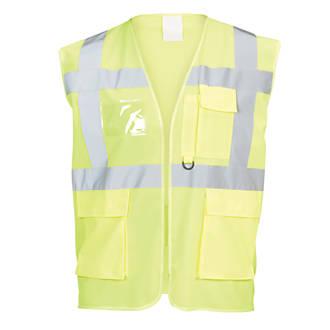 "Hi-Vis Multi-Pocket Waistcoat Yellow XX Large / XXX Large 51¾"" Chest"