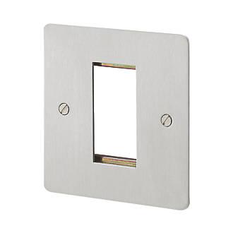MK Edge 2-Module Modular Light Switch Surround Polished Chrome