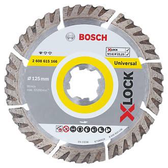Bosch X-Lock Concrete/Stone Diamond Cutting Disc 125 x 22.23mm