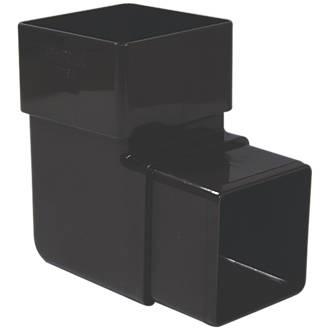 FloPlast Square 92.5° Offset Bend 65mm Brown