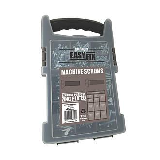 Easyfix Bright Zinc-Plated  Mixed Machine Screws 750 Piece Set