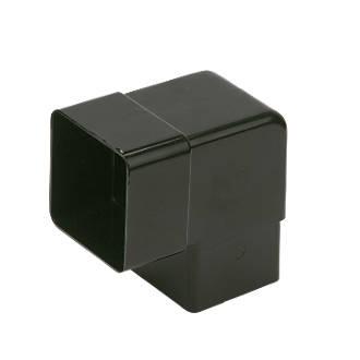 FloPlast Square 92.5° Offset Bend 65mm Black