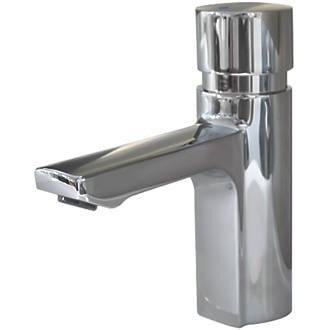 Franke F5S Self-Closing FRAMIC Non-Concussive Commercial Bathroom Pillar Tap Chrome