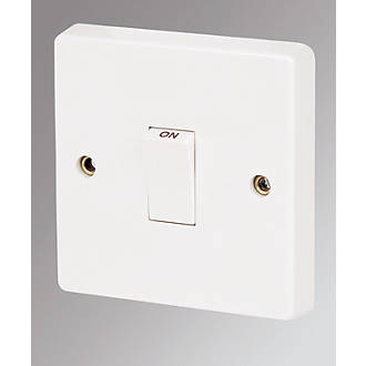 Crabtree Capital 20A 1-Gang DP Control Switch White