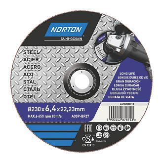 "Norton  Grinding Disc 9"" (230mm) x 6 x 22.23mm"