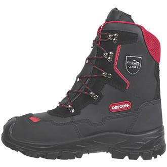 Oregon Yukon  Safety Chainsaw Boots Black Size 7.5