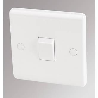 LAP  20A 1-Gang DP Control Switch White