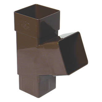 FloPlast  Square Downpipe Branch 65mm Brown
