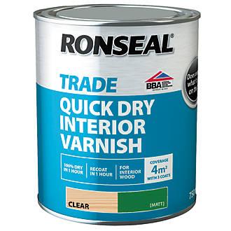 Ronseal Interior Varnish Matt Clear 750ml