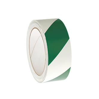 Nite-Glo Chevron Safety Tape Luminescent / Green 10m x 40mm