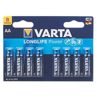 Varta Longlife Power AA High Energy Batteries 8 Pack