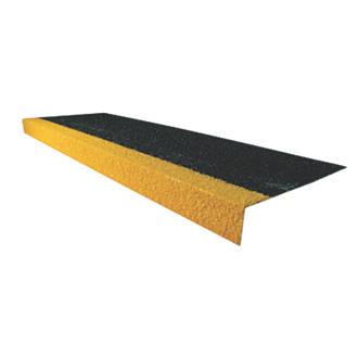 COBA Europe Cobragrip Black & Hi-Vis Yellow GRP Anti-Slip Stair Tread Cover 1000 x 345 x 55mm