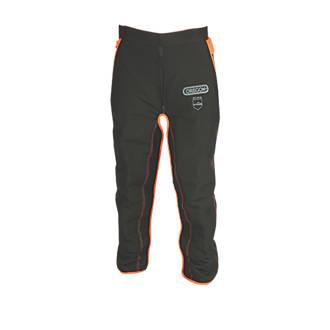 "Oregon   Chainsaw Safety Leggings Black / Orange 28"""