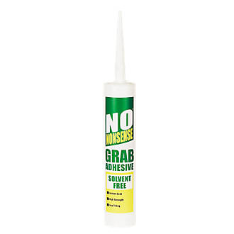 No Nonsense 11665502 Grab Adhesive Solvent-Free White 310ml