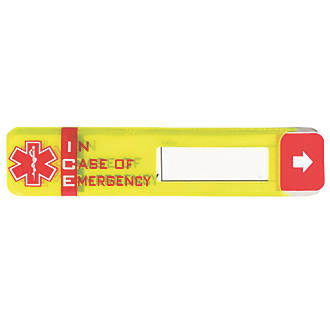 Scafftag Worker ID Emergency Tag with Window Fluorescent Yellow