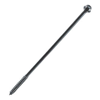 FastenMaster TimberLok Flange Structural Timber Screws Black 6.3 x 250mm 12 Pack