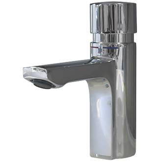 Franke F5S-Mix Self-Closing FRAMIC Non-Concussive Commercial Bathroom Pillar Mixer Tap Chrome