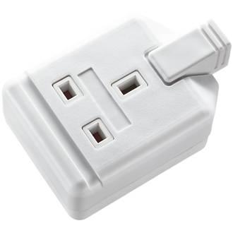 Masterplug 13A 1-Gang Unfused Rewireable Socket  White