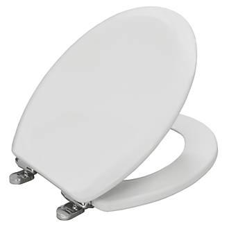 Carrara & Matta Elwood Soft-Close Toilet Seat Moulded Wood White