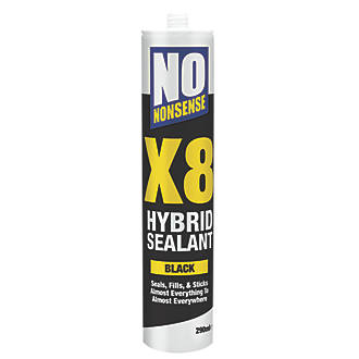 No Nonsense X8 Hybrid Sealant & Adhesive Black 290ml