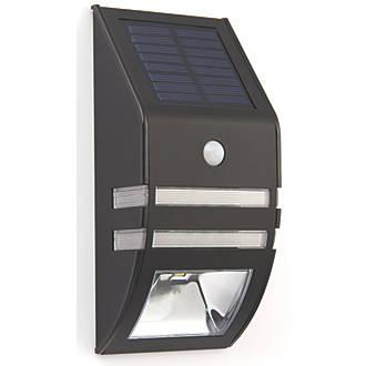 LAP 54023 Solar LED Bulkhead Matt Black 40lm