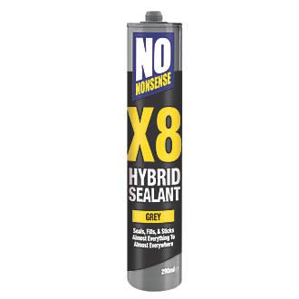 No Nonsense X8 Hybrid Sealant & Adhesive Grey 290ml