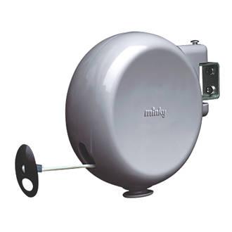 Minky 1 Line 15m Grey Retractable Washing Line