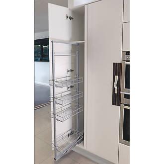 Hafele 4-Shelf Pull-Out Larder System Silver  x  x