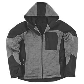"Site Rowan Fleece-Lined Winter Hoodie Black / Grey Medium 49"" Chest"