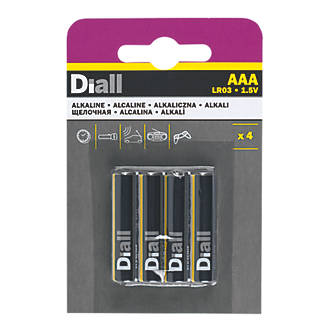 Diall  AAA Batteries 4 Pack