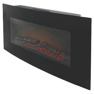 Blyss Dovhy Black Remote Control Wall-Mounted Electric Fire