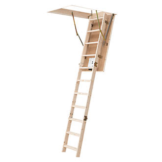 3-Sections Insulated Timber Loft Ladder Kit 2.77m