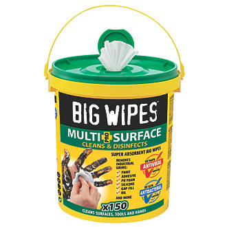 Big Wipes XL Multi-Surface Cleaning Wipes White 150 Pack